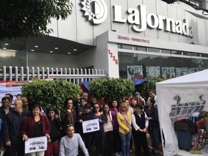 Trabajadores en huelga de La Jornada se solidarizan con trabajadores de Pepsico Argentina