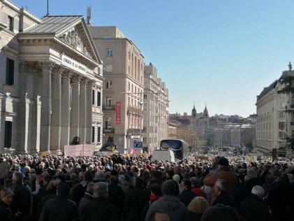 Gran jornada de protestas en el Estado español contra la miserable subida en las pensiones