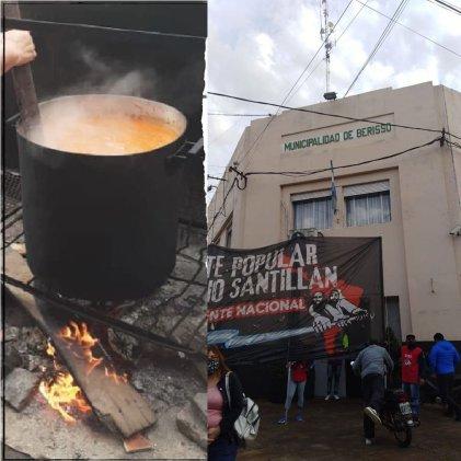 Movilización en Berisso por recortes a comedores y cooperativistas