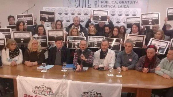 Sute denunció persecución política y reclamó el desprocesamiento de trabajadores de la educación