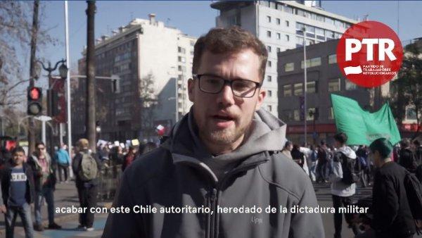 Estudiantes, jóvenes y trabajadores chilenos en apoyo a los docentes y contra las reformas de Piñera