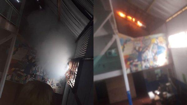 Educación en crisis: otro incendio en escuela de Tres de Febrero