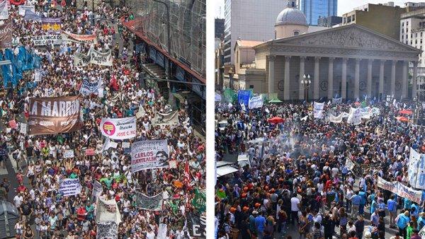 #6A: primer paro general contra el Gobierno de Macri en Argentina