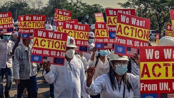 EE.UU., la UE y la ONU buscan desviar la lucha de los trabajadores de Myanmar